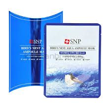 SNP Bird& Nest aqua ampoule mask