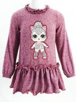 АКЦИЯ!!Платье-туника для девочек  2-6 лет OP251 фуксия