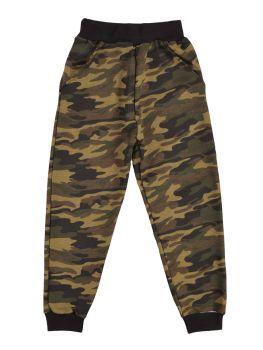 Трикотажные брюки камуфляжной расцветки 5-8 лет №UZ107F