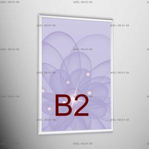Световая панель Frame LED Framelight Classic (фреймлайт), односторонняя, формат B2, 500х700 мм