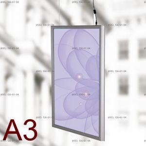Световая панель Frame LED Framelight Classic (фреймлайт), двусторонняя, формат A3, 297х420 мм