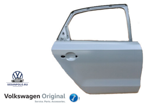 Дверь задняя правая Оригинал Volkswagen Polo Sedan
