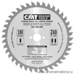 CMT 296.180.40H Диск пильный 180 x 20 x 2,8 / 2,2 -6° TCG Z 40