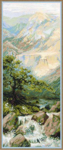 Набор для вышивания крестом Горная река №1543 фирма Риолис