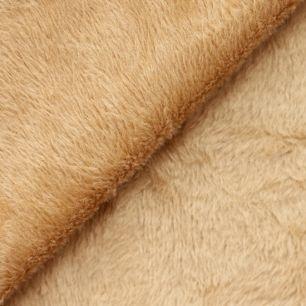 Ткань плюш трикотажный капучино 50х50 см
