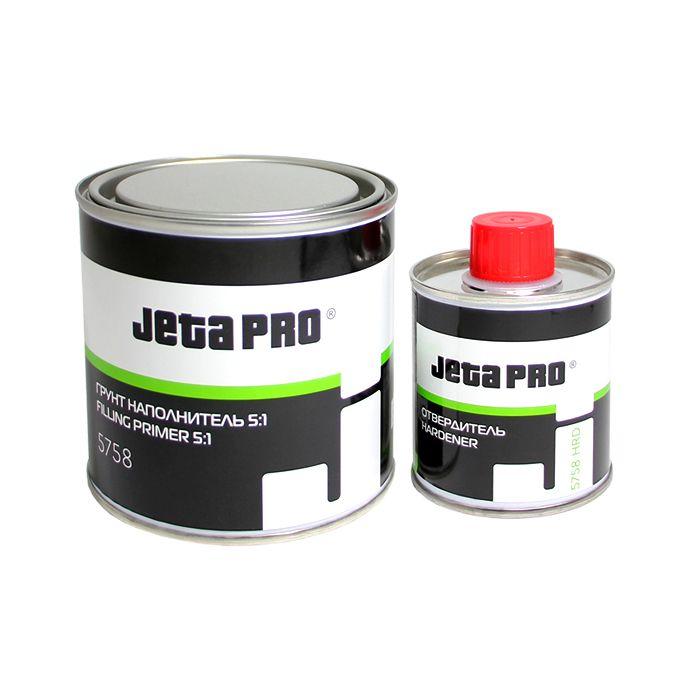 Jeta Грунт-наполнитель 5:1, акриловый + отвердитель, серый, 500мл. + 100мл.