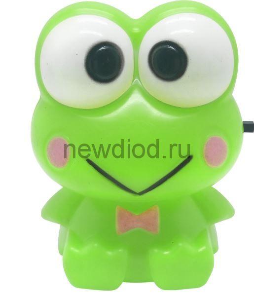 Ночник светодиодный NLA 02-FG ЛЯГУШОНОК зелёный с выключателем 230В IN HOME