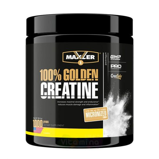 Maxler Моногидрат креатина 100% Golden Creatine, 1000 г