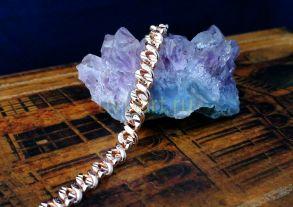 Позолоченная цепочка с эффектом алмазной гравировки, 6 мм (арт. 250263)