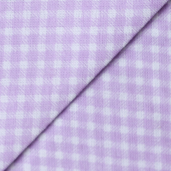 Ткань Сиренево-белая клетка 50х40см