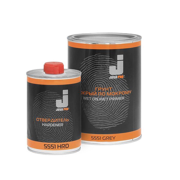 """Jeta PRO 5551 Грунт 3:1 """"мокрый по мокрому"""", серый + отвердитель, 750мл. + 250мл."""