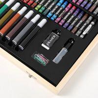 Набор для рисования в деревянном чемоданчике 180 предметов_6