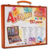 Набор для рисования в деревянном чемоданчике 150 предметов_6