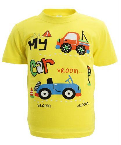 "Футболка для мальчика 1-4 года Dias kids ""My Car"" желтая"