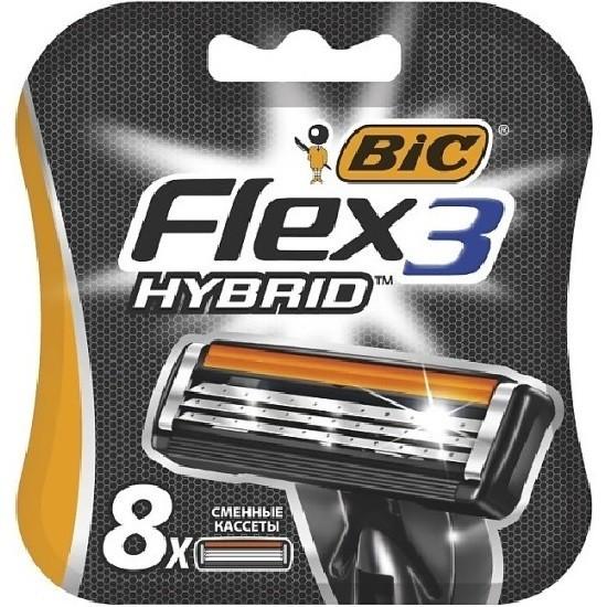 Bic Flex 3 Hybrid сменные кассеты (8 шт)