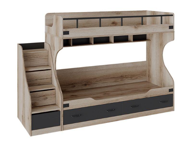 Кровать двухъярусная с приставной лестницей «Окланд»