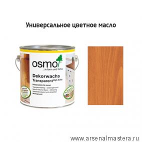 Цветное масло OSMO 3137 Dekorwachs Transparent Tоne Вишня 2,5 л