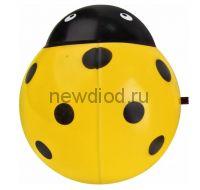 Ночник светодиодный NLA 07-BY ЖУЧОК жёлтый с выключателем 230В IN HOME