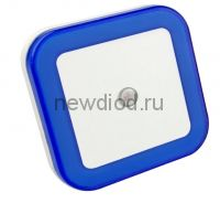 Ночник светодиодный NLE 03-SB-DS КВАДРАТ синий с датчиком освещения  230В IN HOME