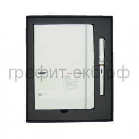 Набор Lamy Safari Ручка перьевая F+ книжка записная А5 белый