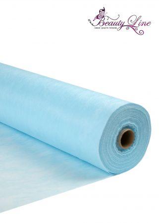 Простыни одноразовые - 80/200, плотность - 20; --- 100 штук, цвет голубой.