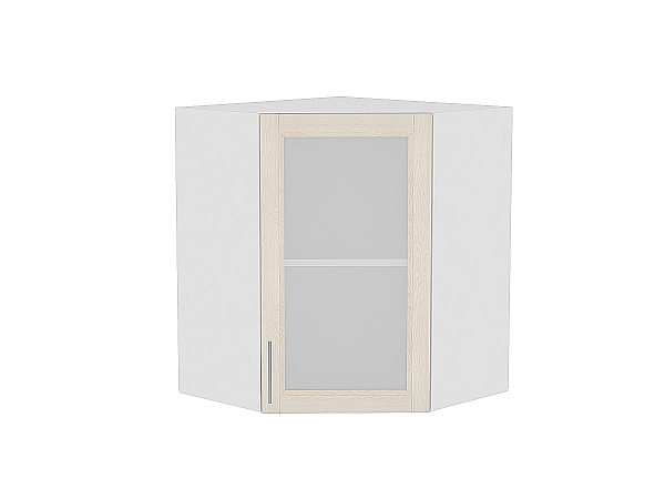 Шкаф верхний угловой Сканди ВУ590 со стеклом Cappuccino Softwood