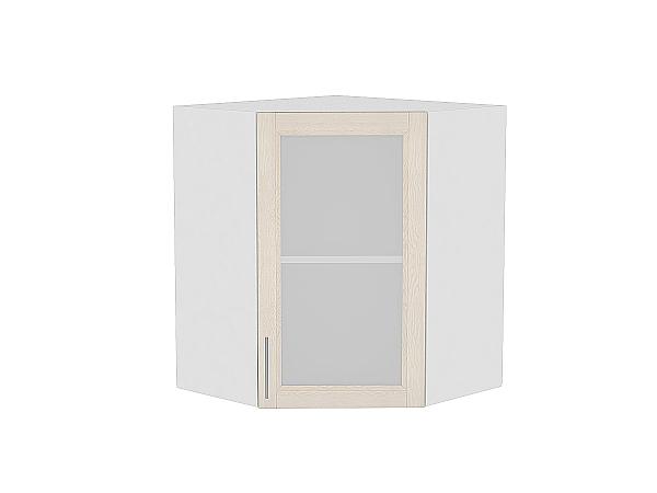 Шкаф верхний угловой Сканди ВУ599 со стеклом Cappuccino Softwood