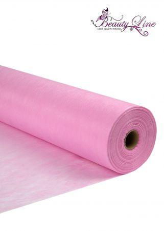 Простыни одноразовые - 80/200, плотность - 20; --- 100 шт. Цвет Розовый
