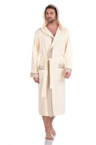Мужской махровый халат Le Voyageur (PM 931) кремовый