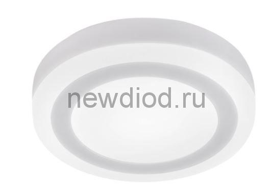 Панель светодиодная круглая накладная NRLP-BL 16Вт 230В 4000К 960Лм 195мм с подсветкой белая IP20 IN