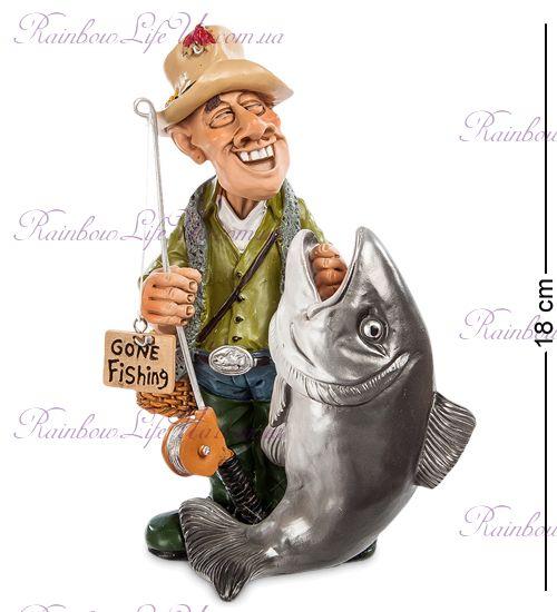 """Статуэтка рыбак с большой рыбой """"W.Stratford"""""""