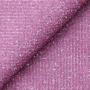 Лоскут трикотажной блестящей ткани Розовый