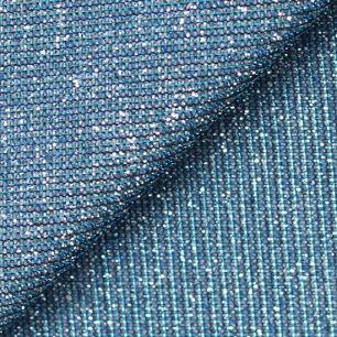 Лоскут трикотажной блестящей ткани Голубой