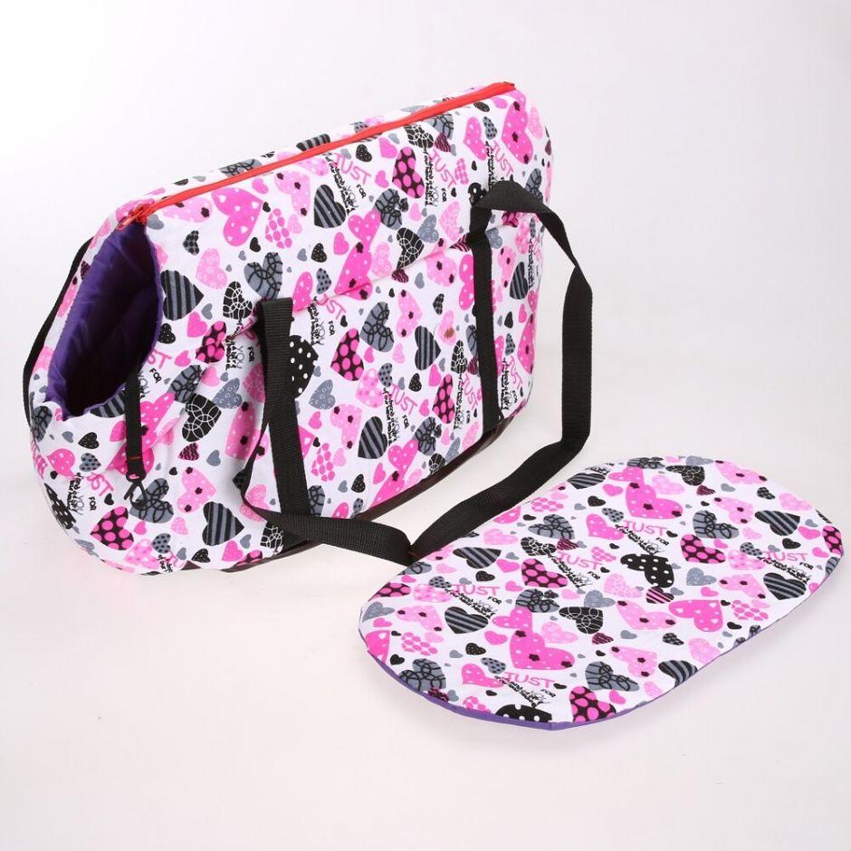 Мягкая утеплённая сумка-переноска для собак, 36х24х20 см