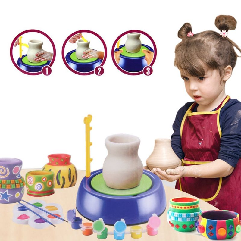 Детский гончарный круг Pottery Wheel (цвет синий)