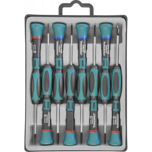 D3750P08S Набор отверток для точной механики, 50 мм, шлиц 1.0-3.0 и крест PH# 0.00-1, 8 предметов