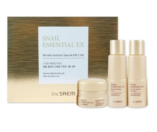Набор уходовый антивозрастной Snail Essential EX Wrinkle Solution Special Gift 3 Set 31мл*2/10мл