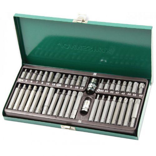 S29H4142SM Набор вставок-бит 10 мм шестигранных H4-12 мм, Torx Т20-Т60, Spline М5-М12 (30 и 75 мм), 42 предмета