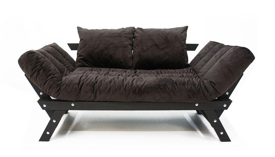 Диван Амбер люкс тёмно-коричневый
