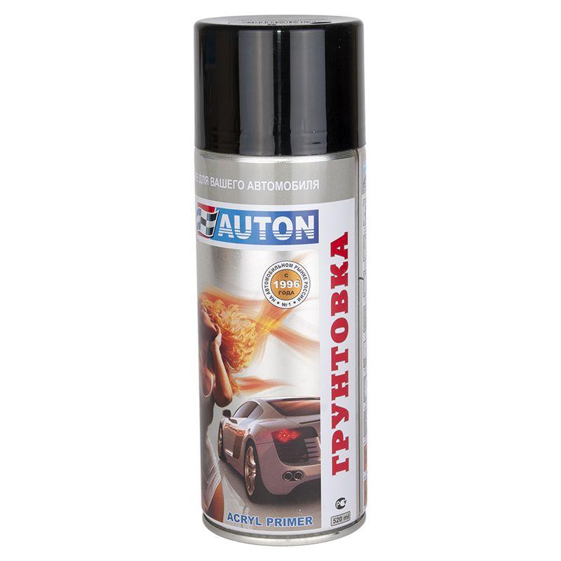 """Auton 1К acryl Filler Грунт акриловый, название цвета """"Черный"""", в аэрозольном баллоне, объем 520мл."""