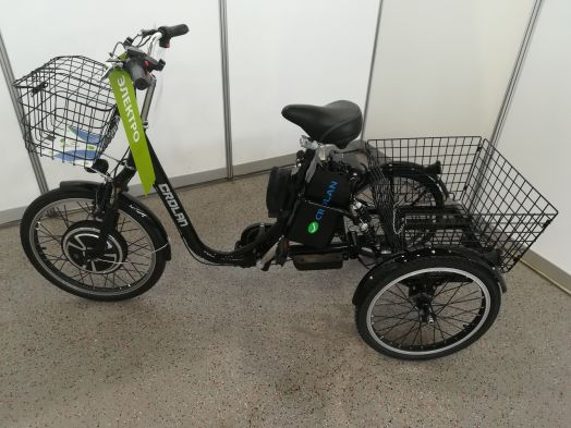Трицикл Crolan 500W Черный