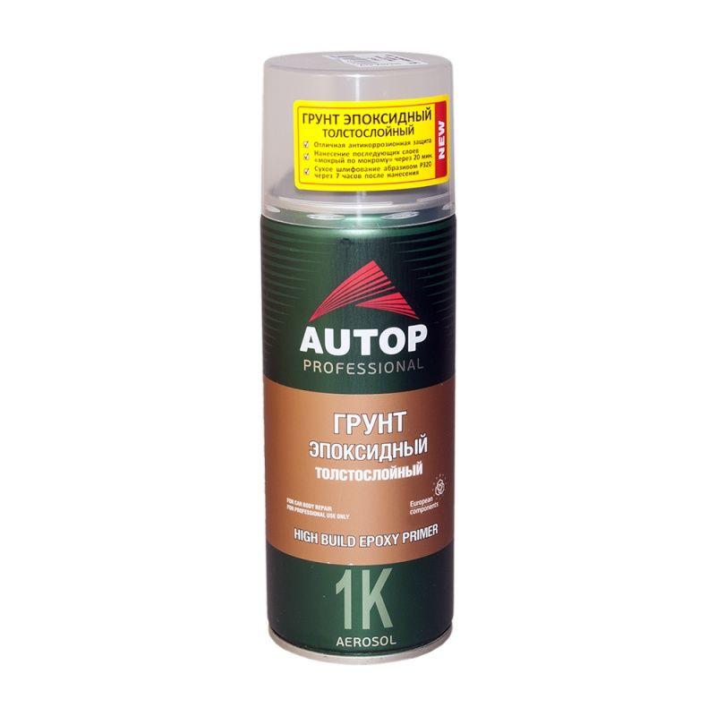 """Autop 1K Epoxy HIGH Грунт эпоксидный, толстослойный, название цвета """"Серый"""", в аэрозольном баллоне, объем 520мл."""
