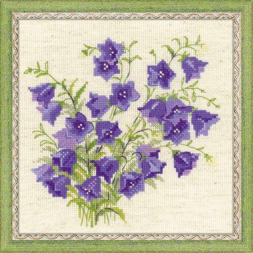 Набор для вышивания крестом Колокольчики №1557 фирма Риолис