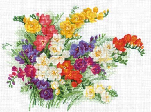 Набор для вышивания крестом Фрезии №1561 фирма Риолис