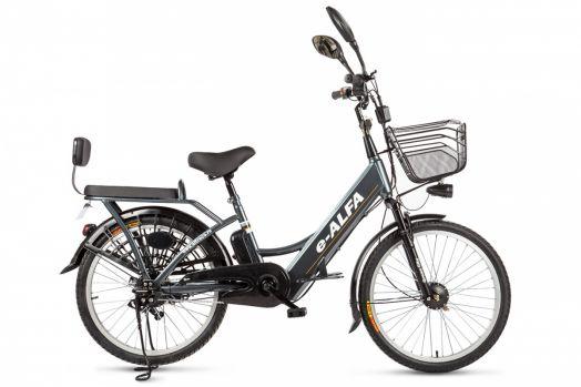 Велогибрид Eltreco e-ALFA Темно серый
