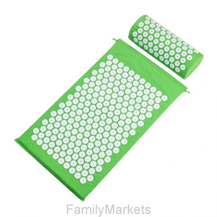 Акупунктурный массажный комплект из коврика и валика Acupressure Mat