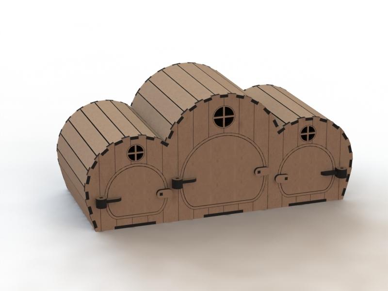Деревянный домик для хомяка простой