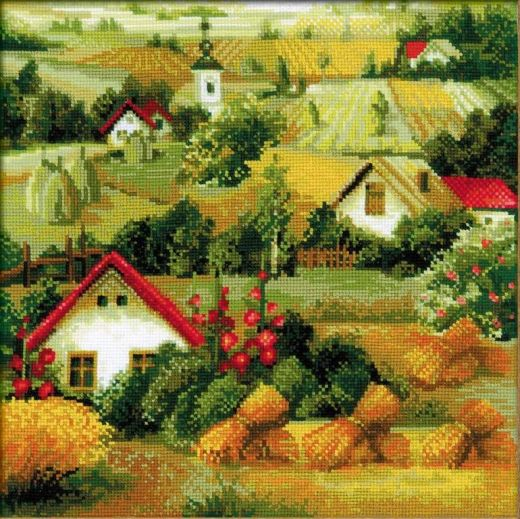 Набор для вышивания крестом Сербский пейзаж №1569 фирма Риолис