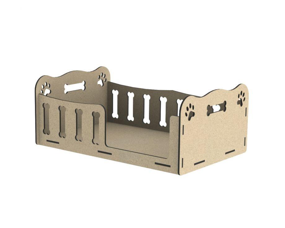 Лежанка для собак в виде кроватки