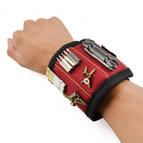 Строительный магнитный браслет Magnetic Wristband (3 магнита), красный